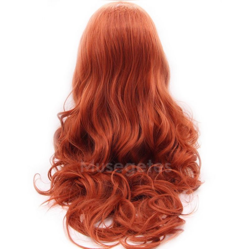 Copper Red Body Wave Synthetic Lace Front Wigs HS4018