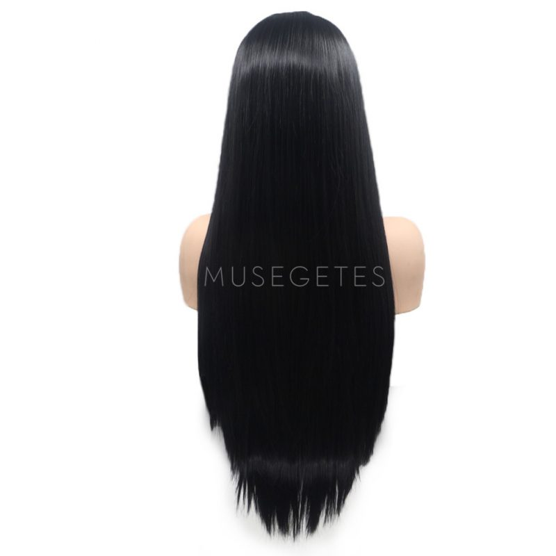 Black Straight Synthetic Lace Front Wigs HS6059